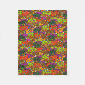 Halloween Candy Fun Fleece Blanket