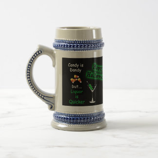 Halloween Candy is Dandy - Candy Corn & Martini Beer Steins