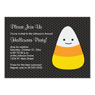 Halloween Candy Kids Costume Party Invitations