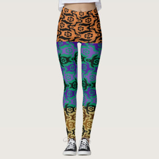 Halloween Candy Sea Turtles Pattern Leggings