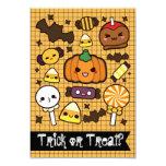 Halloween Candy Treats 9 Cm X 13 Cm Invitation Card