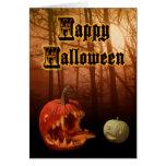 Halloween Card Hungry Jack-o-lanterns blank