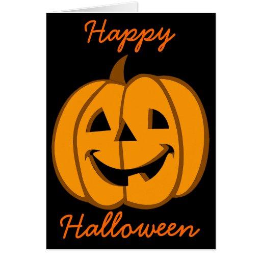 Halloween Card Jack O Lantern 3