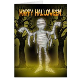 Halloween card romantic halloween with Mummy