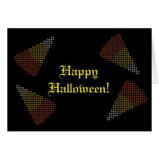 Halloween Card with Paw Print Candy Corn