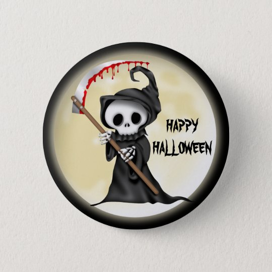 Halloween Cartoon button
