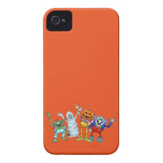 Halloween cartoon creatures waving iPhone 4 Case-Mate case