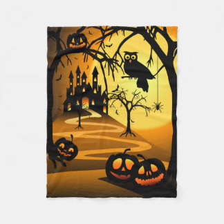 Halloween Castle Small Fleece Blanket
