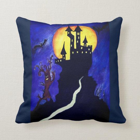 Halloween Castle Tree Throw Cushion 41 cm x