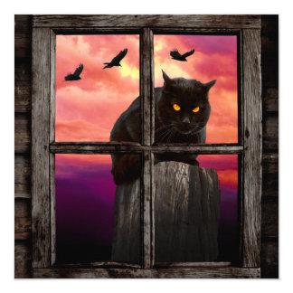 Halloween Cat 13 Cm X 13 Cm Square Invitation Card
