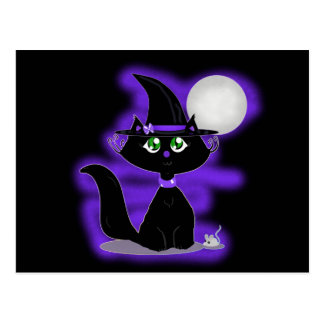 Halloween Cat and toy mouse Postcards