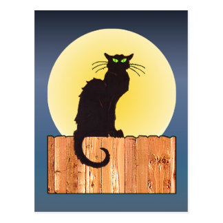 HALLOWEEN CAT by SHARON SHARPE Postcard