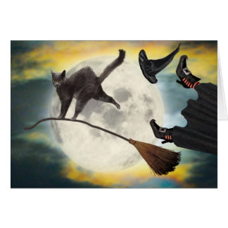 Halloween Cat Card Funny Cute Adorable Best