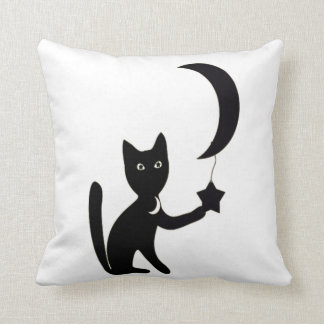 halloween cat custom background colour cushion