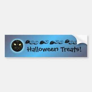 Halloween Cat in the Moon Party Decoration Bumper  Bumper Sticker