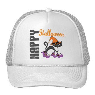 Halloween Cat In Witch s Boots Hats
