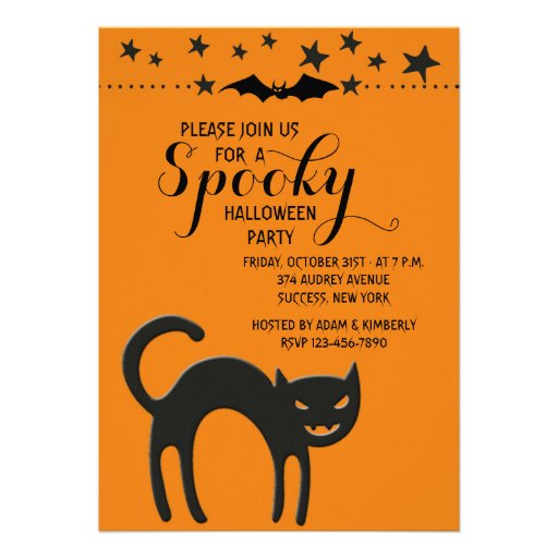 Halloween Cat Invitation