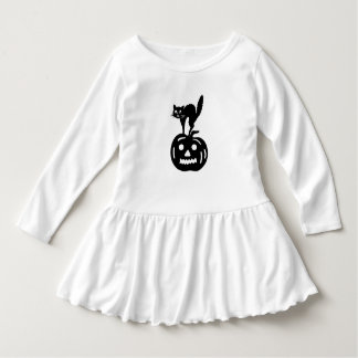 Halloween Cat & Jack-O'-Lantern Toddler Dress Shirts