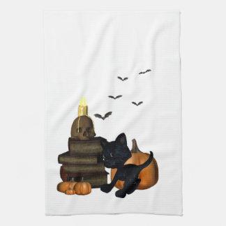 Halloween cat kitchen Towel