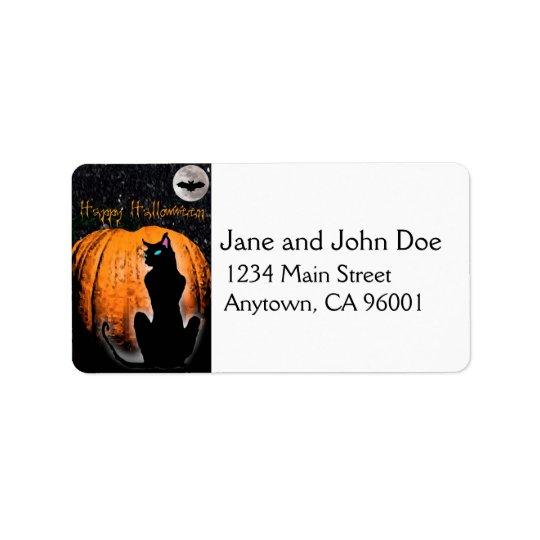 Halloween Cat Label