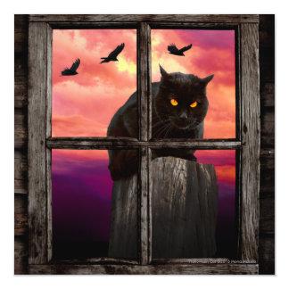 Halloween Cat Magnetic Invitations