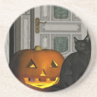 Halloween cat on the Porch Coaster