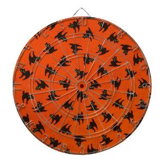 Halloween Cat Pattern Dartboard