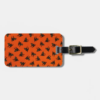 Halloween Cat Pattern Luggage Tag