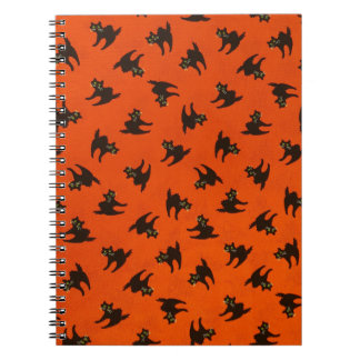 Halloween Cat Pattern Notebooks