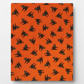 Halloween Cat Pattern Plaque