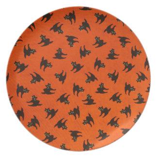Halloween Cat Pattern Plate