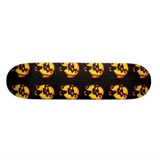 Halloween Cat Pattern Custom Skateboard