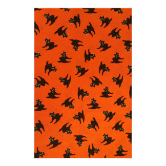 Halloween Cat Pattern Stationery