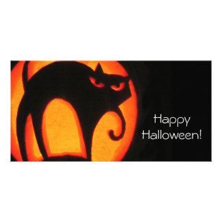 Halloween Cat Picture Card