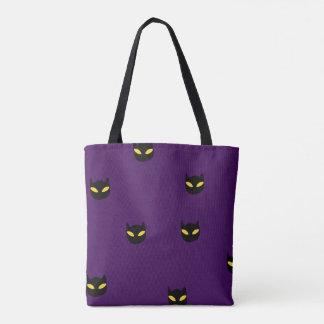 Halloween Cat Print Tote Bag