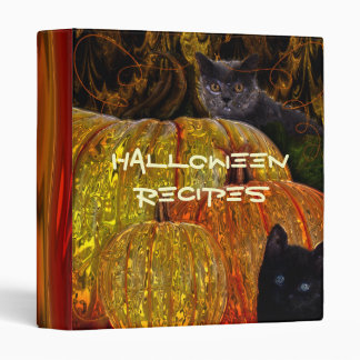 Halloween Cat Recipe Binder