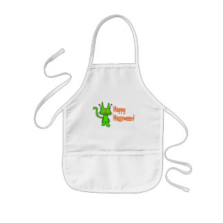 Halloween Cat Whishes Aprons