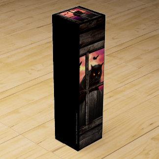 Halloween Cat Wine Boxes