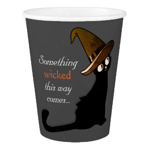 Halloween Cat Witch - Paper Cups