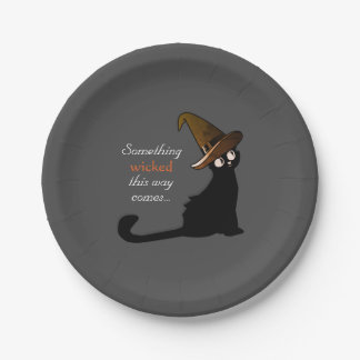 Halloween Cat Witch - Plates