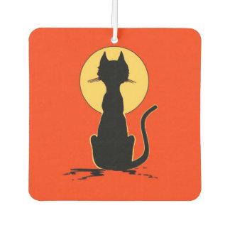 Halloween Cat with Moon ~ Car Air Freshener