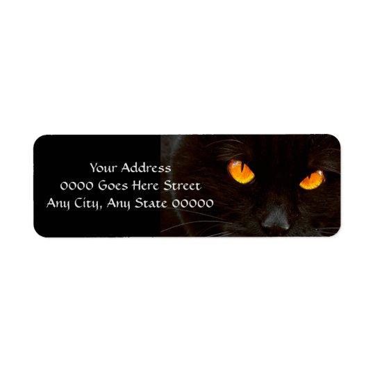Halloween Cat's Face Return Address Label