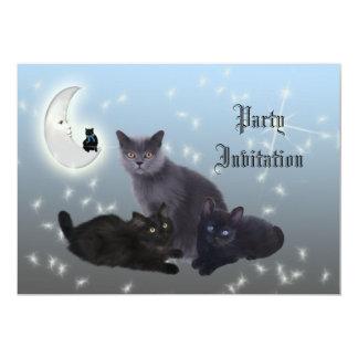 Halloween Cats Invitation