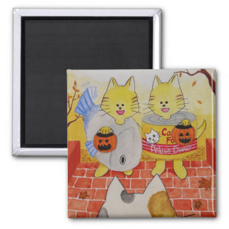 """Halloween Cats Magnet """"Trick or Treat"""""""