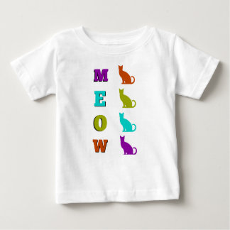 Halloween Cat's Silhouette MEOW Baby T-Shirt