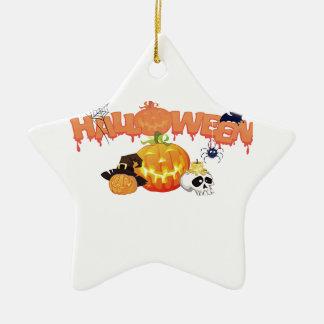 Halloween Ceramic Star Decoration