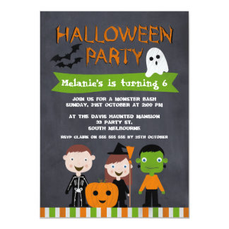 Children Halloween Party Invitations Announcements Zazzlecouk - Halloween birthday invitations uk