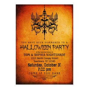 Halloween Chandelier Party Invitation