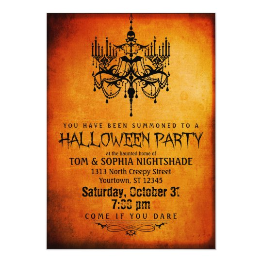 Halloween Chandelier Party Invitation