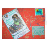 Halloween Cheer Collage Greeting Card